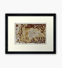 Old folded map of Alagaësia Framed Print