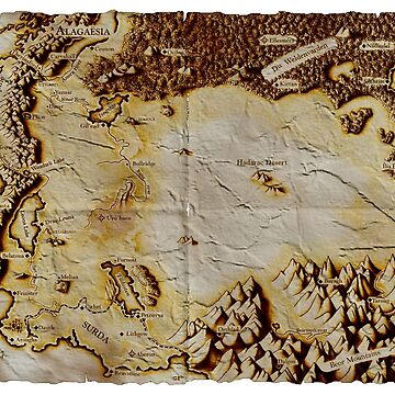 Old folded map of Alagaësia by locokimo