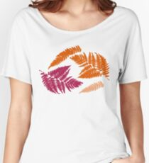 Polypodióphyta leaves Women's Relaxed Fit T-Shirt