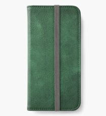 vintage design background - dark green chalkboard texture iPhone Wallet