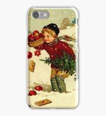 CHRISTMAS; Vintage Country Scene Print iPhone Case/Skin