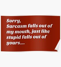 Sarcastic Stupidity Insult Poster