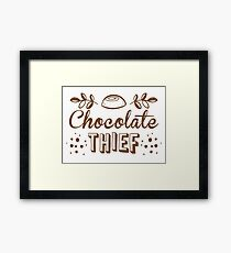 chocolate theif Framed Print