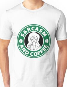 Sarcasm and Coffee Unisex T-Shirt