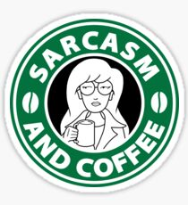 Sarcasm and Coffee Sticker