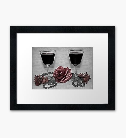 Toast to a Romantic Night Framed Print