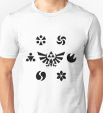 Sages of Hyrule – Black Slim Fit T-Shirt