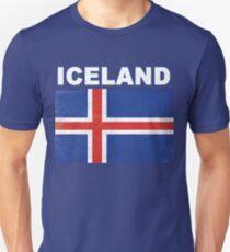 HD Distressed Iceland Flag Design Unisex T-Shirt