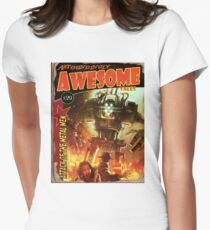 Attack of the Metal Men Womens Fitted T-Shirt