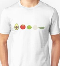Guacamole Ingredients Unisex T-Shirt