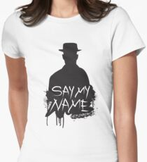 Say My Name - Heisenberg (Silhouette version) Women's Fitted T-Shirt