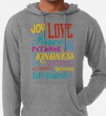 Love Joy Peace Patience Kindness Goodness Typography Art Lightweight Hoodie