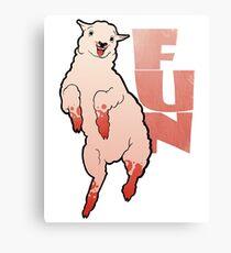 Funny Lamb Canvas Print