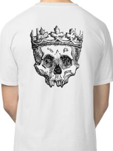 DEATH, King of the Dead, Skull, Crown, on WHITE Classic T-Shirt