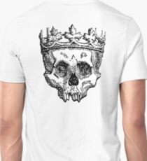 DEATH, King of the Dead, Skull, Crown, on WHITE T-Shirt