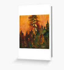 Forest Fire #1 Greeting Card