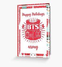 B.A.P Happy Holidays Snowman Version Greeting Card