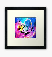 Never Grow U p Nebula Blue Framed Print