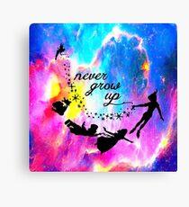 Never Grow U p Nebula Blue Canvas Print