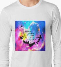 Never Grow U p Nebula Blue T-Shirt