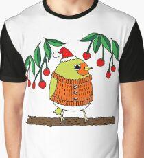 Festive Robin Graphic T-Shirt