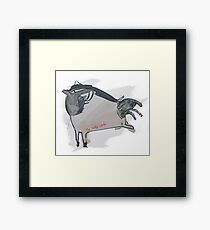 """The Lucky Lamb"" Original Art by Alice Iordache Framed Print"
