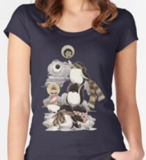 Penguins intrepid Women's Fitted Scoop T-Shirt