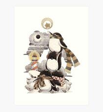 Penguins intrepid Art Print