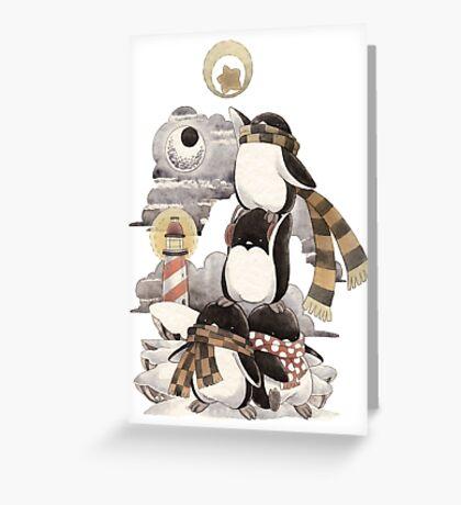 Penguins intrepid Greeting Card