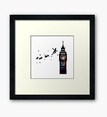 Peter Pan The Second Star Framed Print