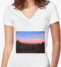 Cripple Creek Sunrise Women's Fitted V-Neck T-Shirt