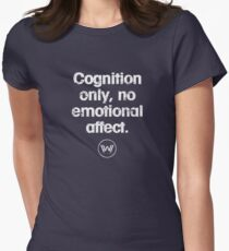 Cognition only - westworld park code  Womens Fitted T-Shirt
