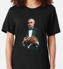 The Godfather's Cat Slim Fit T-Shirt
