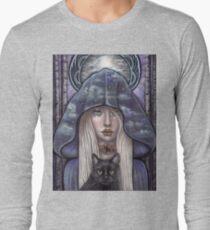 Nauthiz Rune Maiden black cat sorceress Long Sleeve T-Shirt
