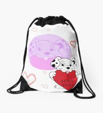 Dog Drawstring Bag