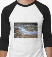 Long Exposure Waterfall Men's Baseball ¾ T-Shirt