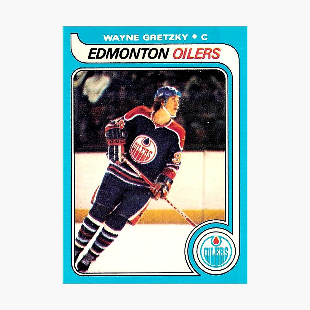 Wayne Gretzky Edmonton Oilers Eishockey NHL Rookie Card Fotodruck