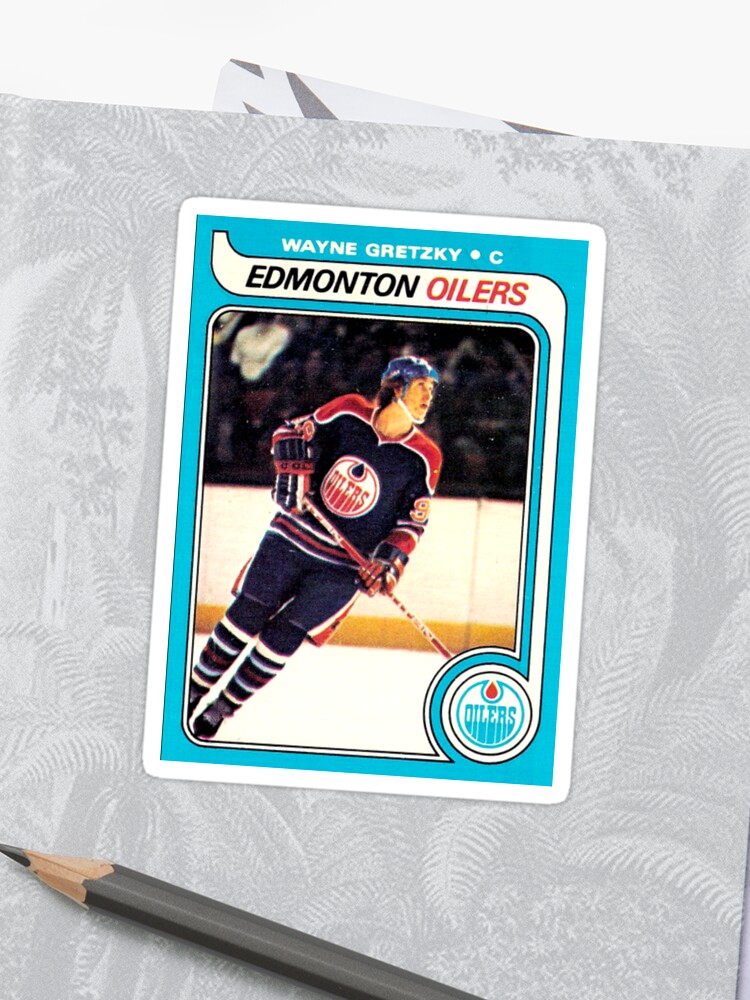 Wayne Gretzky Edmonton Oilers Hockey Nhl Rookie Card Sticker