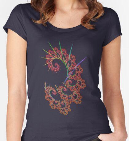 Dangerous #fractal art Women's Fitted Scoop T-Shirt