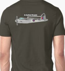 WWII, Combat Aircraft, Mosquito, De Havilland Mosquito, RAF, Fighter, Bomber, Wold War II, British, multi-role Unisex T-Shirt