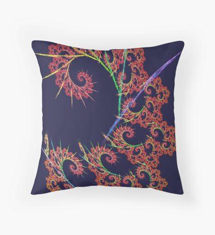 Dangerous #fractal art Throw Pillow