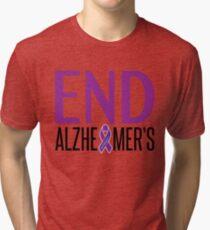 End Alzheimer's Ribbon Tri-blend T-Shirt