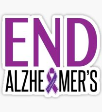 End Alzheimer's Ribbon Sticker