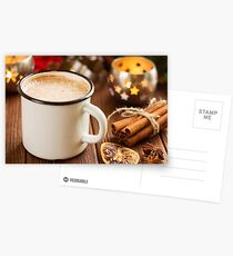 Cup of hot cocoa with mini marshmallows Postcards
