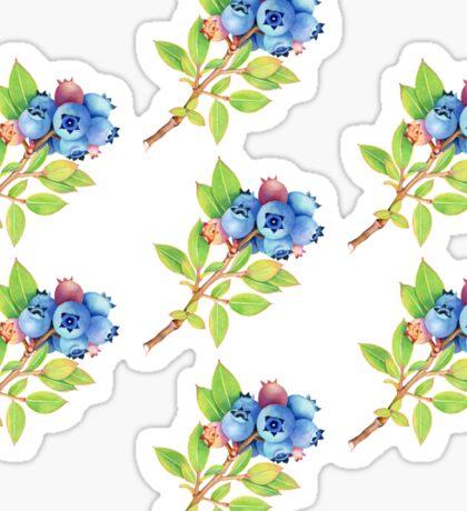 Wild Maine Blueberries Allover Print Sticker