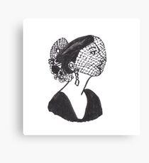 1950s Fashionista Witch Canvas Print