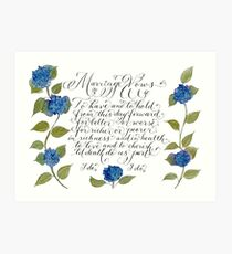 Marriage wedding vows typography quote Art Print