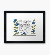 Marriage wedding vows typography quote Framed Print