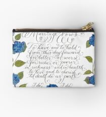 Marriage wedding vows typography quote Studio Pouch