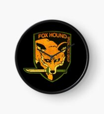 ° METAL GEAR SOLID ° Fox Hound Rust Logo Clock